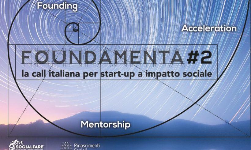 """Bando """"Foundamenta#2"""" per startup a impatto sociale"""