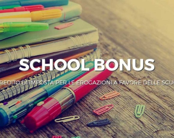 Al via lo School Bonus per donazioni alle scuole