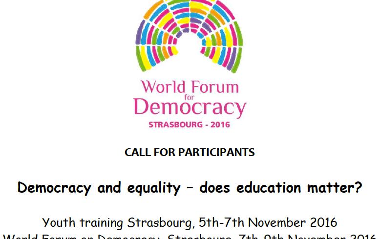 Forum mondiale per la democrazia Strasburgo, 7-9 Novembre